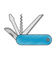 camping knife tool vector image