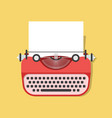 cartoon vintage typewriter vector image