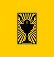 christian symbols communion bread and chalice vector image