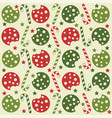 christmas seamless pattern with cookies and candy vector image vector image