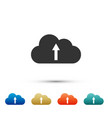 cloud upload icon isolated on white background vector image vector image