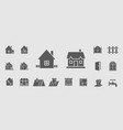 construction icons set 08 vector image vector image