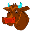 cow face vector image vector image