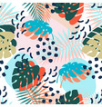 creative universal floral background tropical vector image vector image