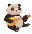 cute panda playing ukulele isolate on white vector image
