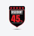 discount icon vector image