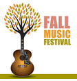 fall music festival art vector image vector image