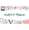 fashion cosmetic template for website or backdrop vector image