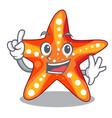 finger underwater sea in the starfish mascot vector image vector image