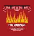 Fire Sprinkler Life Safety vector image vector image