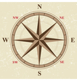 flat compass vector image vector image