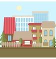 Flat design urban landscape day vector image vector image