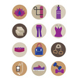 Flat essential Yoga accessory icons set vector image vector image