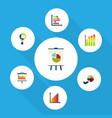 flat icon chart set of infographic segment vector image vector image