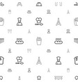 french icons pattern seamless white background vector image vector image