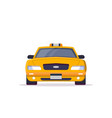 front view taxi car vector image vector image