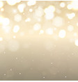 golden holiday background flickering lights with vector image vector image