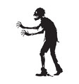 graphic side zombie walking vector image vector image