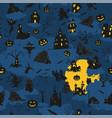 halloween holiday seamless pattern flat design vector image vector image