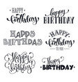 hand written happy birthday phrases vector image