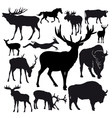 hoofed animals vector image
