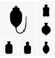Hot water bottles vector image vector image