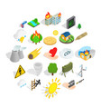 ignitable icons set isometric style vector image vector image