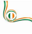 irish wavy flag background vector image vector image