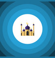 isolated building flat icon mosque element vector image vector image