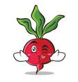 kissing heart radish character cartoon collection vector image vector image