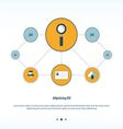 magnifying glass Concept network design vector image vector image