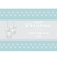 Merry Christmas on light blue landscape background vector image vector image