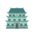 pagoda traditional japanese chinese asian vector image vector image