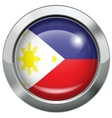 Philippine flag metal button vector image