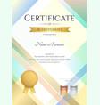 portrait modern certificate of achievement vector image vector image
