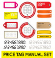 price tag set enable for print or manual price vector image