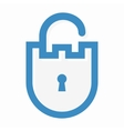 privacy lock logo vector image vector image