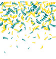 serpentine for celebration party carnival vector image