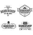 set vintage barbershop labels templates vector image vector image
