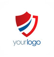 shield protection logo vector image vector image