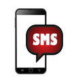 Smart phone sms icons vector image