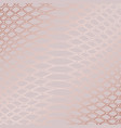 snake skin rose gold elegant texture vector image