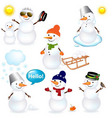 snowmen icons vector image vector image