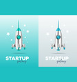 startup business concept with shuttle realistic vector image