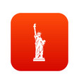 statue of liberty icon digital red vector image vector image