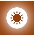 Sun Icon Flat design style eps 10 vector image
