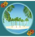 tropical island border vector image vector image