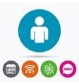 User sign icon Person symbol vector image vector image