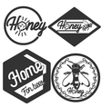 Vintage honey emblems vector image vector image