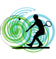 woman playing tennis vector image vector image